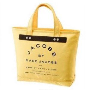 Marc Jacobs yellow canvas tote bag